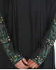 Fadheela Jersey Stretch Sleeve Abaya UK - Abayas - D016
