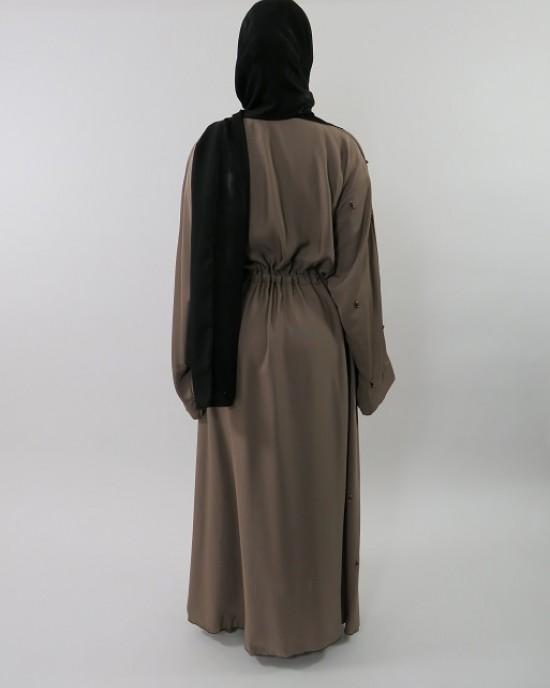 Amani's Stylish Beaded Abaya Style UK - Abayas - Abaya063