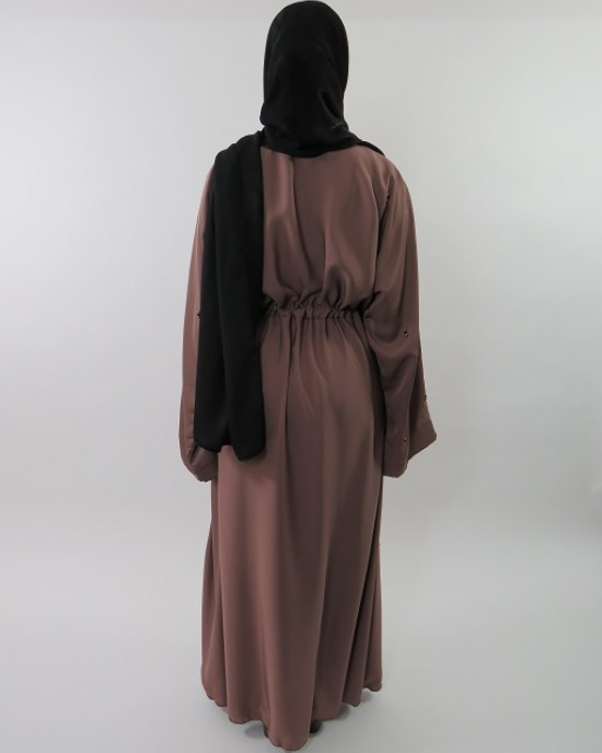 Amani's Stylish Beaded Abaya Style UK - Abayas - Abaya062