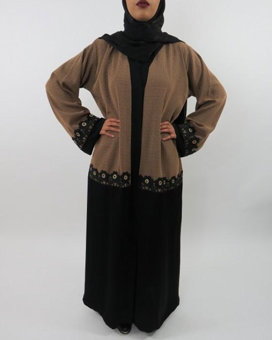 Amani's Brown Abaya Style UK - Abayas - Abaya099