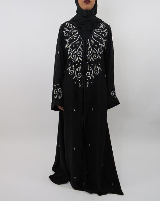 Amani's Designer Occasion Open Abaya UK Style - Abayas - Abaya012