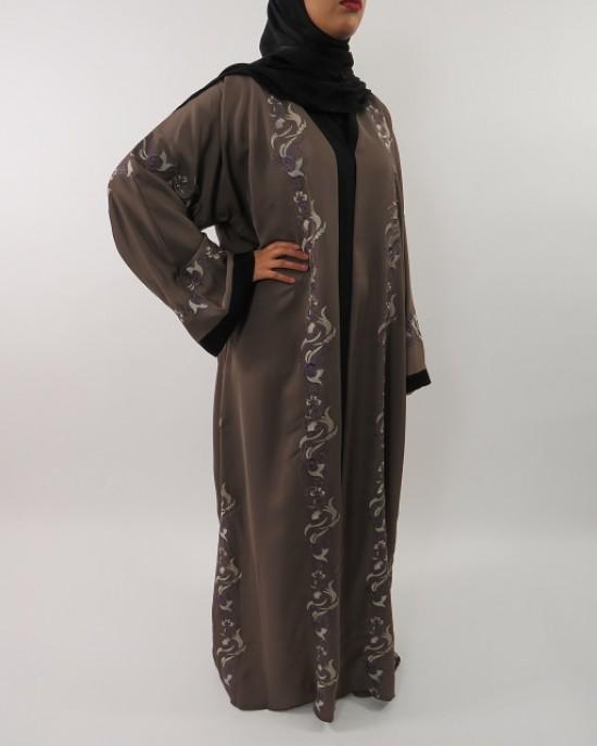 Amani's Neda Embroidery Abaya Style UK - Abayas - Abaya058