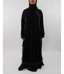 Amanis Flattering Silhouette Designer Chiffon Abaya Style Uk