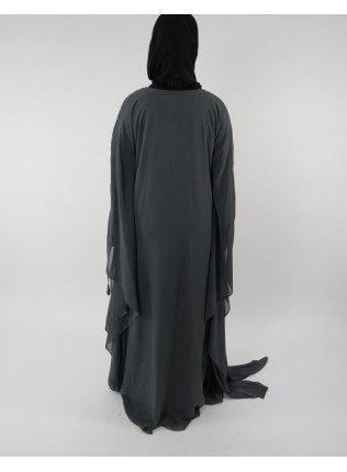 Amani's Grey Farasha Style Abaya UK