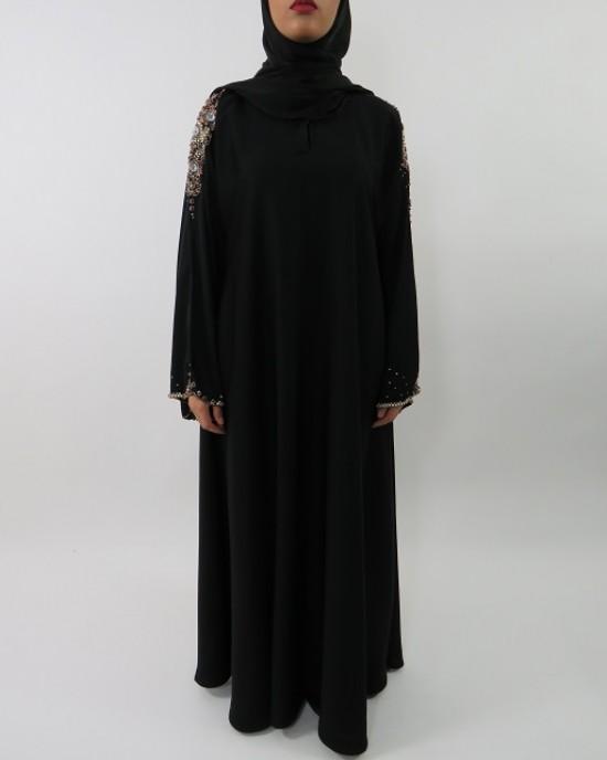 Amani's Hand Made Embroidery Designer Abaya Style UK