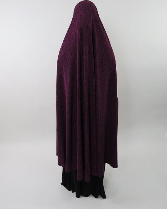 Amani's Jersey Stretch Half Jilbab – Burka – Burqa – Overhead Abaya Style UK - Burqa - Jilbabs - Burka - HalfJilbab001