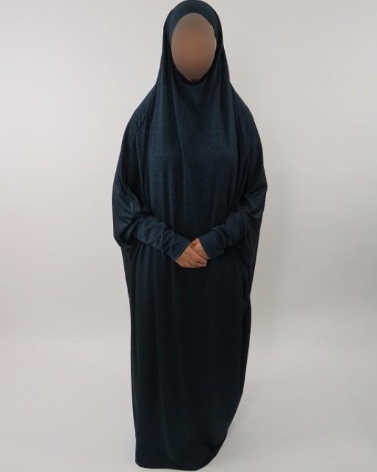 Amani's Jersey Stretch Jilbab – Burka – Burqa – Overhead Abaya Style UK - Burqa - Jilbabs - Burka - JerseyJilbab002