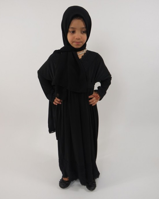 Amani's – Jersey Stretch V Neck Kids Abaya Style UK