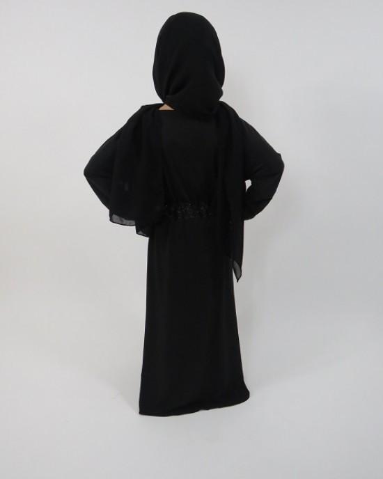 Amani's – Jersey Stretch V Neck Kids Abaya Style UK - Childrens Abayas - KidsAbaya003