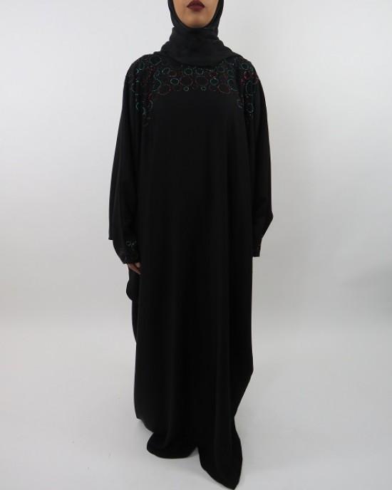 Amani's Multi-Colour Farasha Abaya Style UK - Abayas - Abaya097