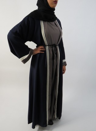 Amani's Navy Blue Abaya Style UK
