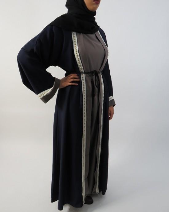 Amani's Navy Blue Abaya Style UK - Abayas - Abaya027