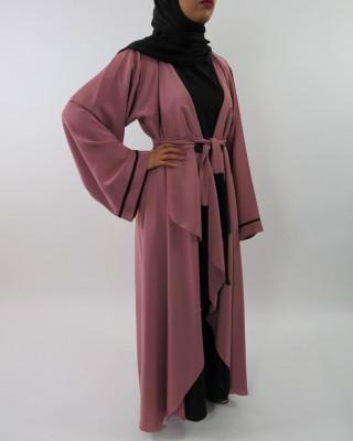 Amani's Silky Lightweight Neda Open Abaya Jacket Style UK