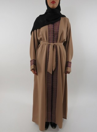 Amani's Light Brown Open Abaya Style UK