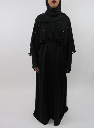 Amani's Open Abaya With Beads Style UK