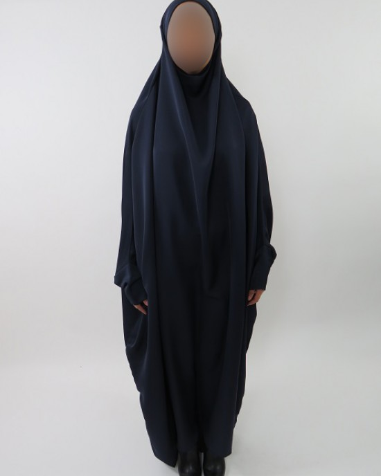 Amani's Plain Navy Blue Neda Jilbab – Burka – Burqa – Overhead Abaya Style UK - Burqa - Jilbabs - Burka - NedaJilbab005