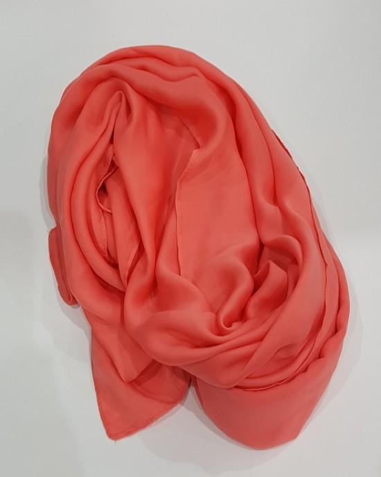 Amani's Deep Coral Large Scarf – Hijab Style UK - Everyday Hijabs - Hijab028