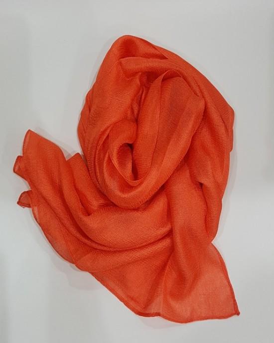 Amani's Fanta Orange Metallic Silk Scarf – Hijab Style UK - Everyday Hijabs - Hijab020