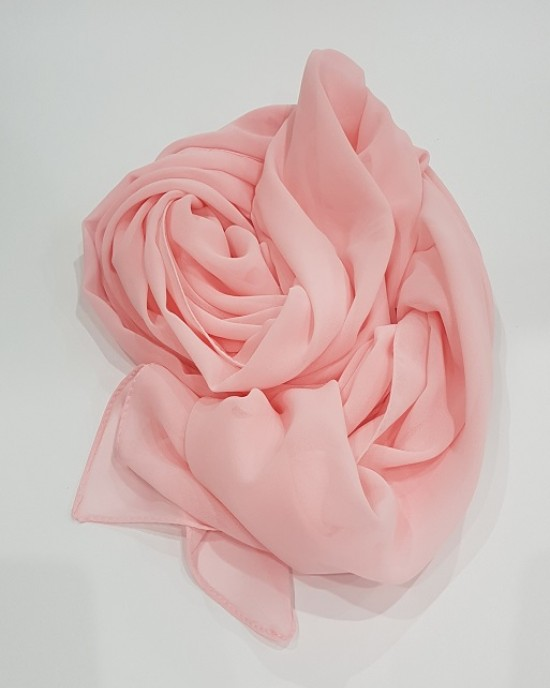 Amani's Lightweight Candy Pink Georgette Scarf Crepe – Hijab Style UK - Everyday Hijabs - Hijab039