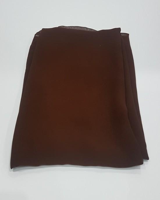 Amani's Lightweight Chocolate Georgette Scarf Crepe – Hijab Style UK - Everyday Hijabs - Hijab046
