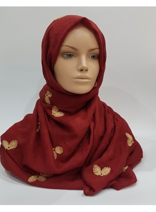 Amani's – Scarlet Embroidery Scarf – Hijab Style UK