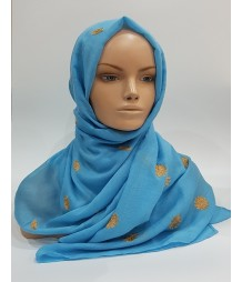 Amani's – Waterfall Embroidery Scarf – Hijab Style UK