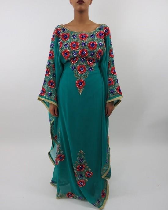Amani's Farasha Style Occasion Kaftan – Maxi Dress UK - Occasion Kaftans - Kaftan013