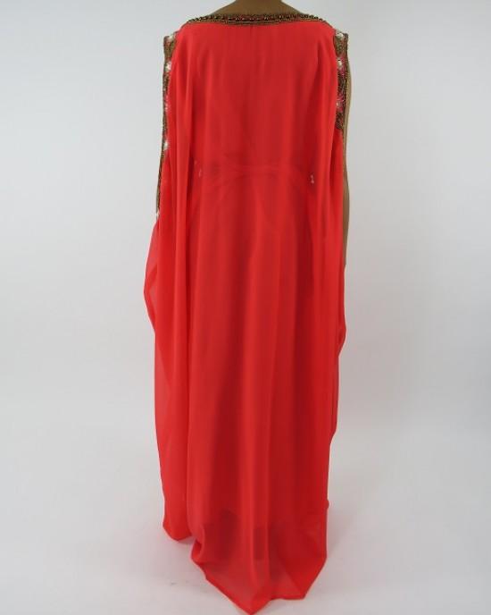 Amani's Sleeveless Occasion Maxi Dress Moroccan Caftan – Kaftan Style UK - Occasion Kaftans - Kaftan053