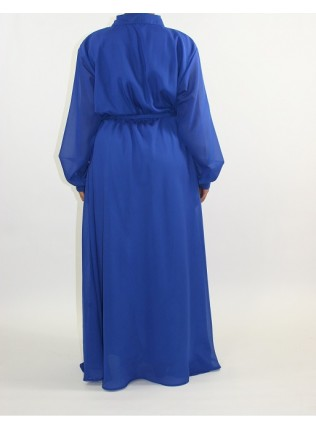 Amani's Blue Long Sleeve Maxi Dress Style UK