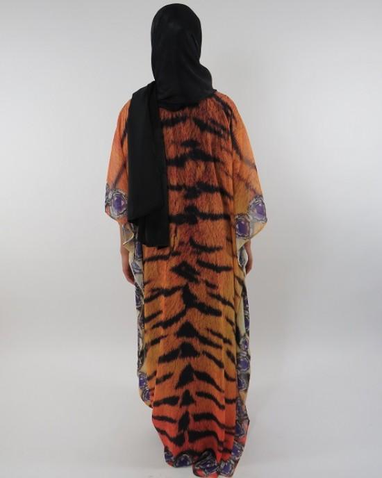 Amani's Chiffon Short Sleeve Maxi Dress With Inner Black Jersey Dress - Long Sleeve Maxi Dresses - ChiffonDress002