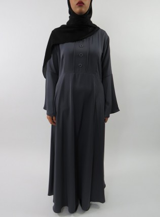 Amani's Dark Grey Long Sleeve Maxi Dress Style UK