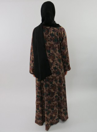 Amani's Floral Printed Cotton Long Sleeve Maxi Dress Style UK
