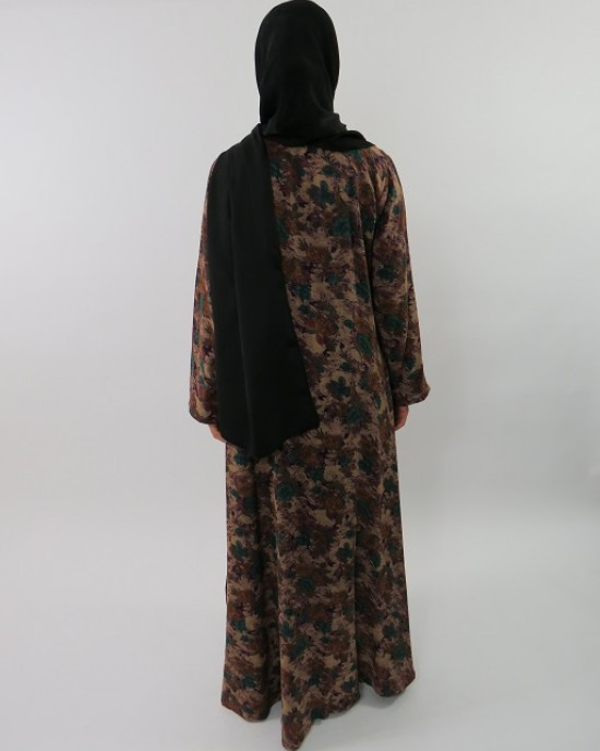 Amani's Floral Printed Cotton Long Sleeve Maxi Dress Style UK - Long Sleeve Maxi Dresses - MaxiDress023