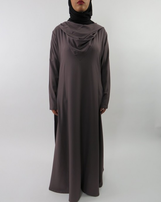 Amani's A-line Hoody Long Sleeve Maxi Dress – Abaya Style UK - CLEARANCE - HoodyMaxiDress002