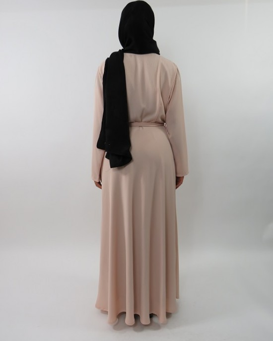 Amani's Collared Long Sleeve Maxi Dress With Biker Style Zip – UK - Long Sleeve Maxi Dresses - MaxiDress026