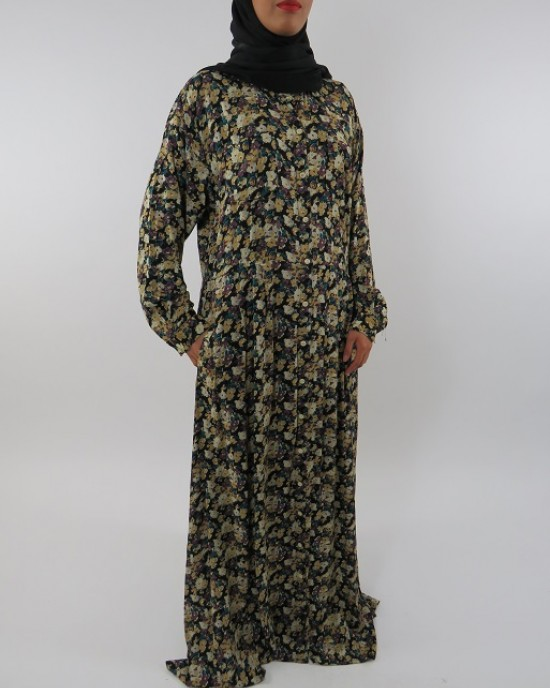 Amani's Long Sleeve Maxi Dress With Side Pockets - Long Sleeve Maxi Dresses - MaxiDress054