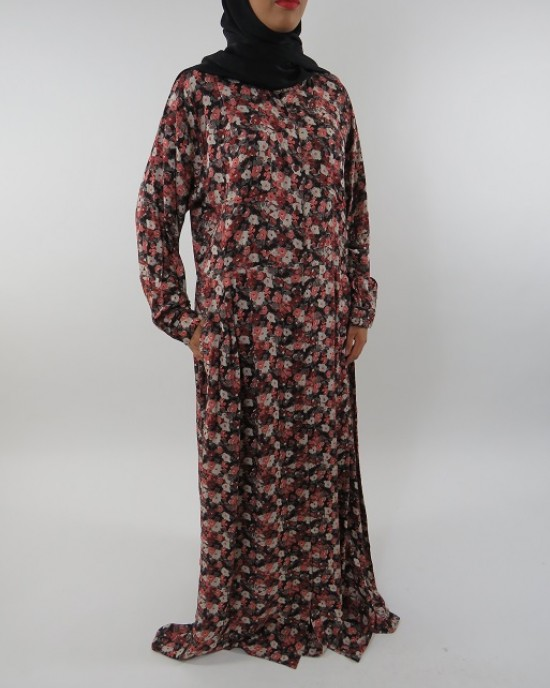 Amani's Long Sleeve Maxi Dress With Side Pockets - Long Sleeve Maxi Dresses - MaxiDress053