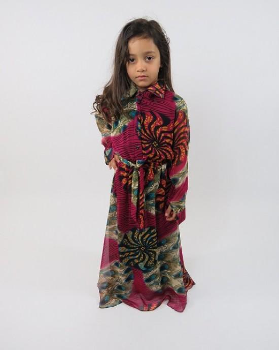 Amani's Purple Long Sleeve Kids Maxi Dress Style UK - Childrens Dresses - KidsDress009