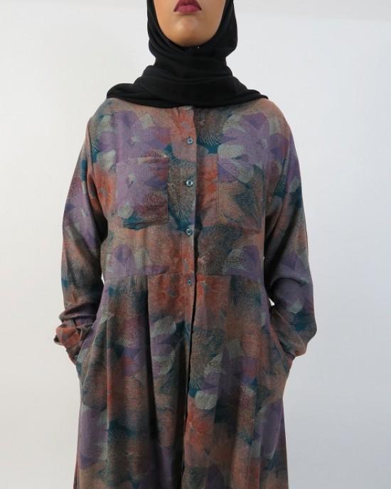 Amani's Purple Long Sleeve Open Maxi Dress Style UK - Long Sleeve Maxi Dresses - MaxiDress003