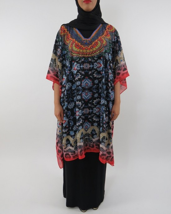 Amani's Top and Black Jersey Maxi Dress Style UK - Long Sleeve Maxi Dresses - ChiffonDress006