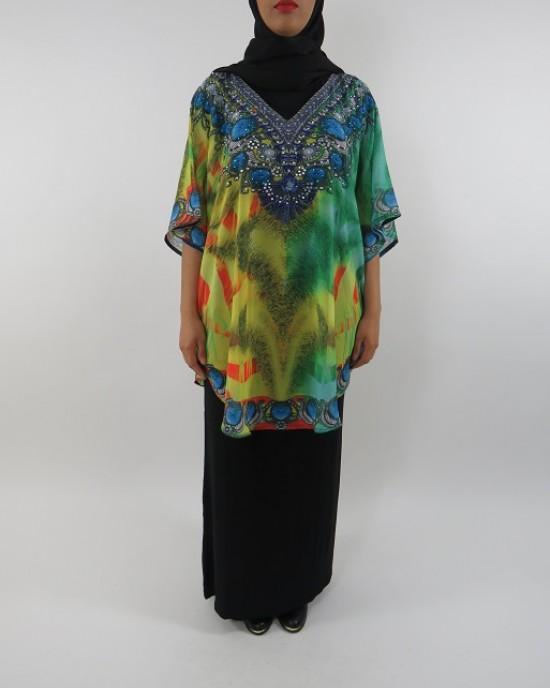 Amani's Top and Black Jersey Maxi Dress Style UK - Long Sleeve Maxi Dresses - ChiffonDress005