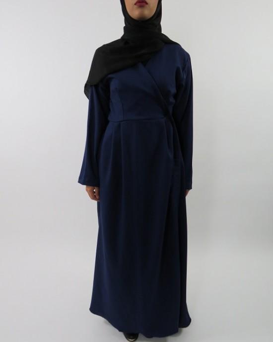 Amani's Blue Long Sleeve Wrap Around Maxi Jacket – Dress Style UK - Jackets - Jacket003