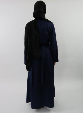 Amani's Blue Long Sleeve Wrap Around Maxi Jacket – Dress Style UK