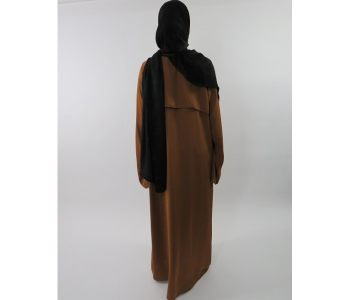87bd3b27e7 ... Amani s Brown Neda Long Sleeve Maxi Jacket Style With Side Pockets UK