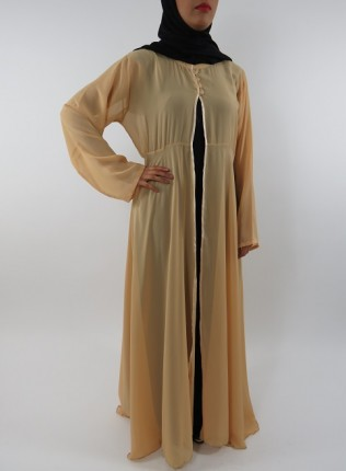 Amani's Cream Transparent Chiffon Jacket Style UK
