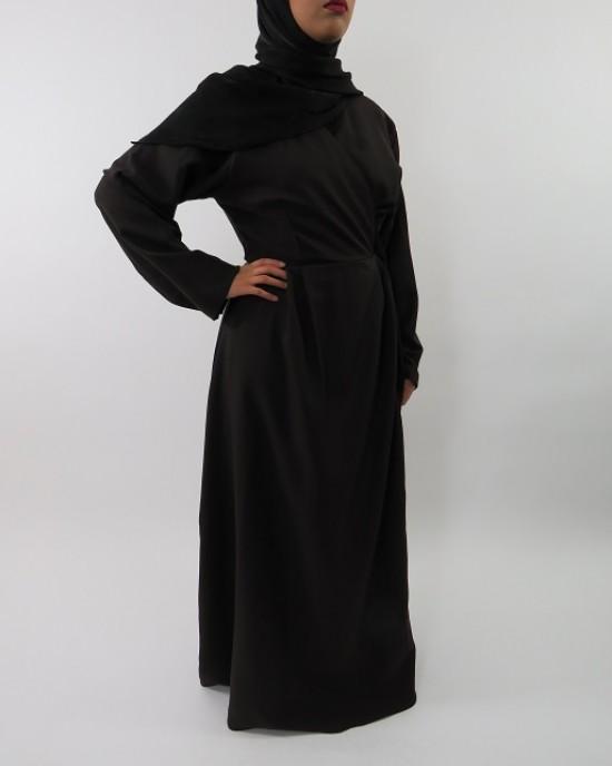Amani's Dark Brown Long Sleeve Wrap Around Maxi Jacket – Dress Style UK - Jackets - Jacket002