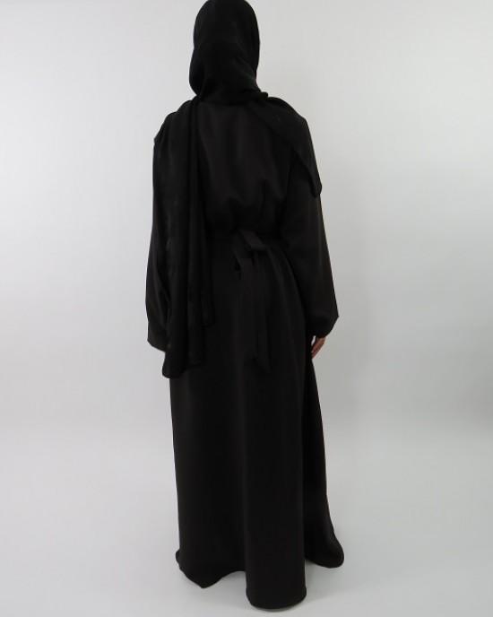 Amani's Dark Brown Long Sleeve Wrap Around Maxi Jacket – Dress Style UK