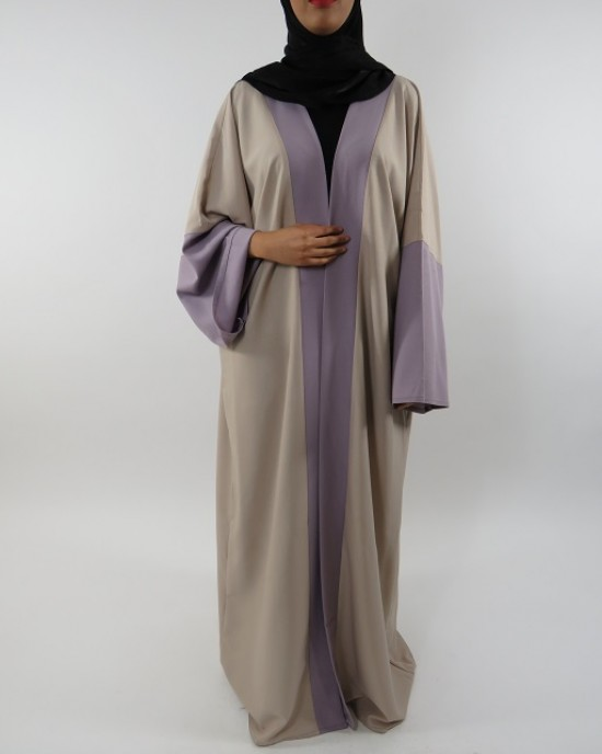 Amani's Full Length Long Sleeve Maxi Kimono Jacket – Coat Style UK - Kimono Jackets - Abaya Overcoats - KimonoJacket046
