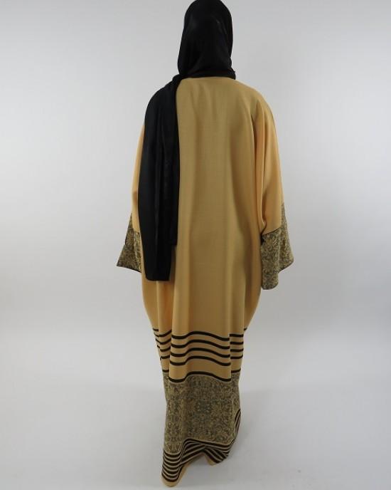 Amani's Full Length Long Sleeve Maxi Kimono Jacket – Coat Style UK - Kimono Jackets - Abaya Overcoats - KimonoJacket045