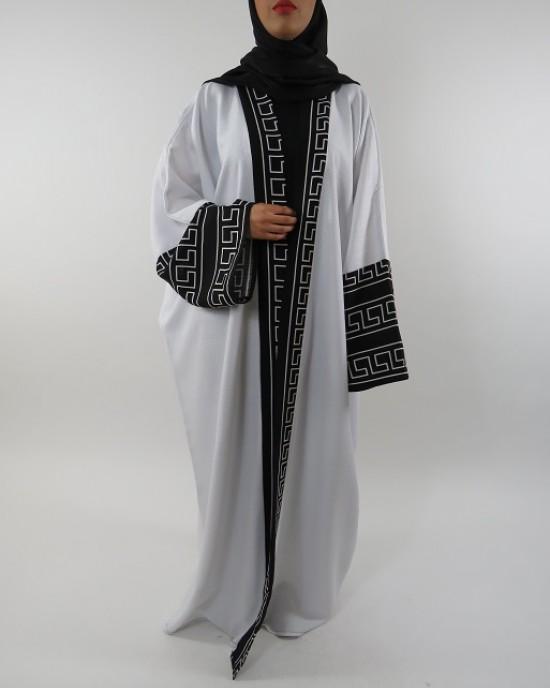 Amani's Full Length Long Sleeve Maxi Kimono Jacket – Coat Style UK - Kimono Jackets - Abaya Overcoats - KimonoJacket044